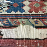 Restauration kilim Avant Phase i