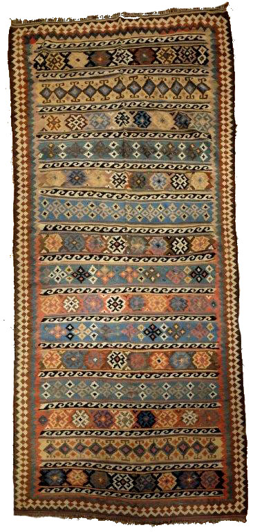 kilim epoque 1890 qashgai tapis anciens kilims anciens. Black Bedroom Furniture Sets. Home Design Ideas