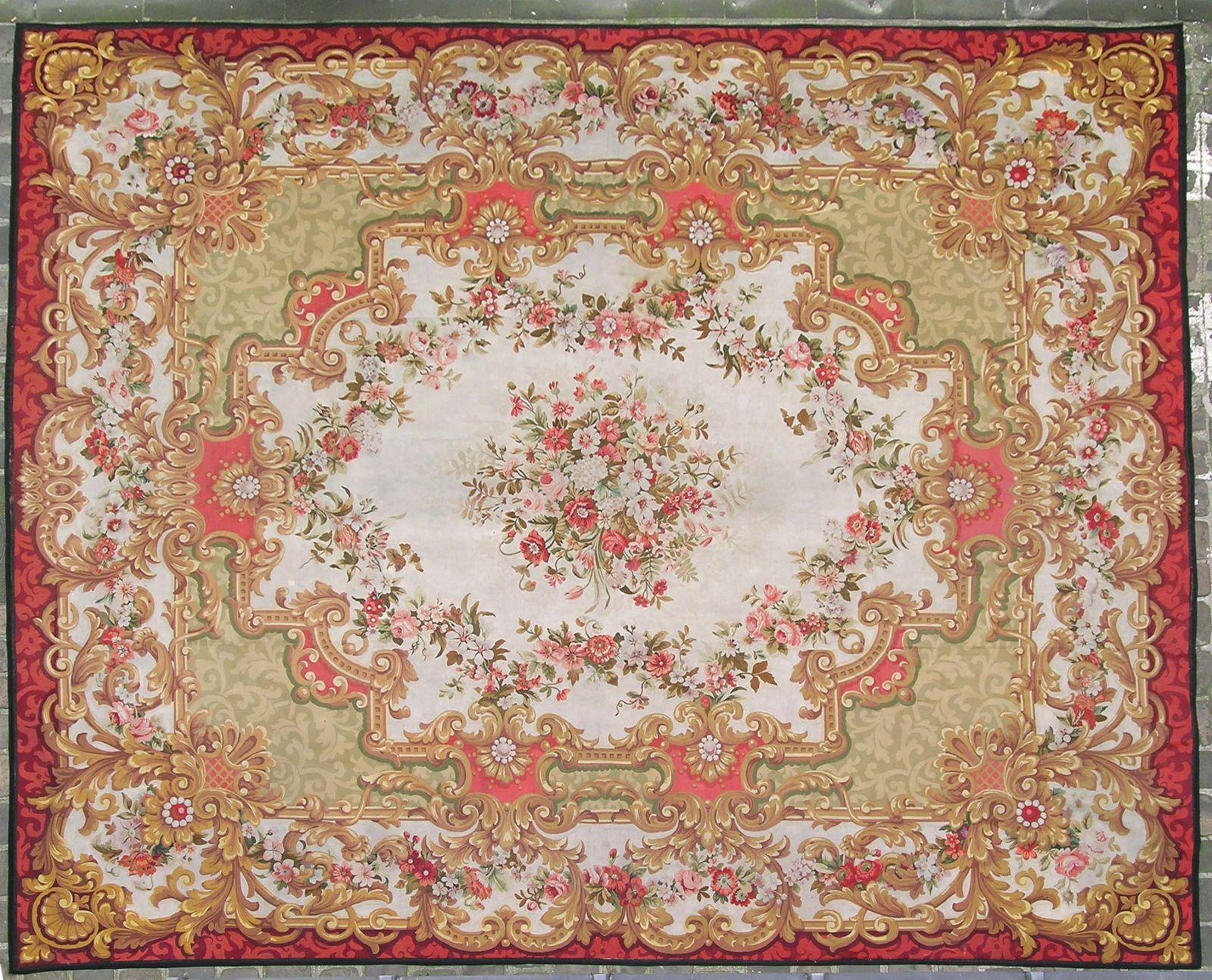 achat vente tapis aubusson les ateliers d 39 aubusson est connu au d but des ann es 1740 1750 comme. Black Bedroom Furniture Sets. Home Design Ideas