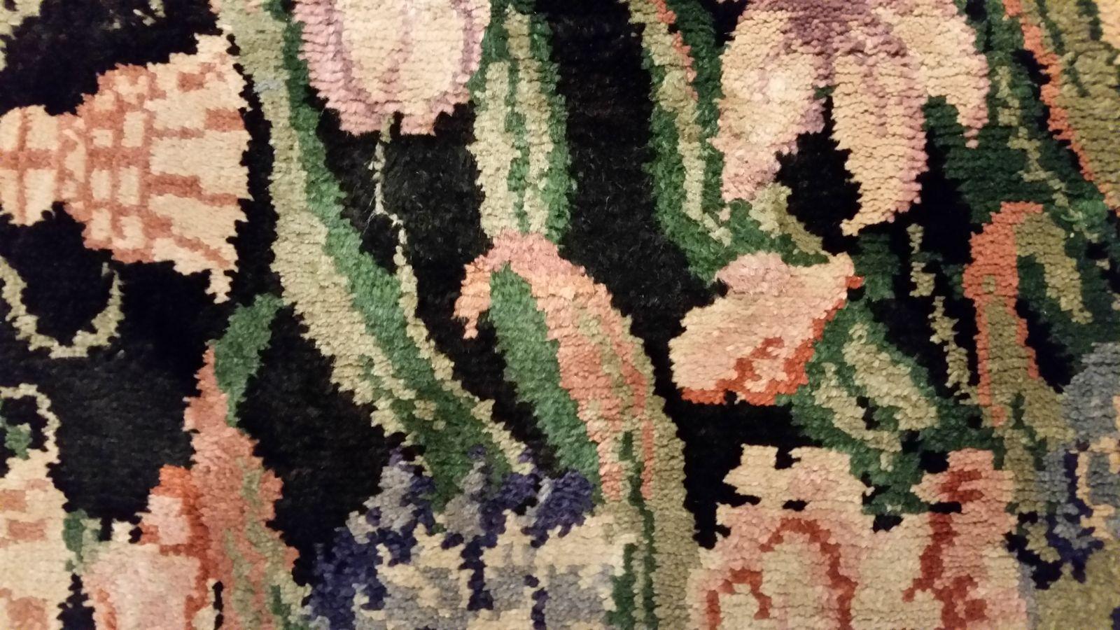 restauration d 39 un tapis de la savonnerie photos avant apr s. Black Bedroom Furniture Sets. Home Design Ideas