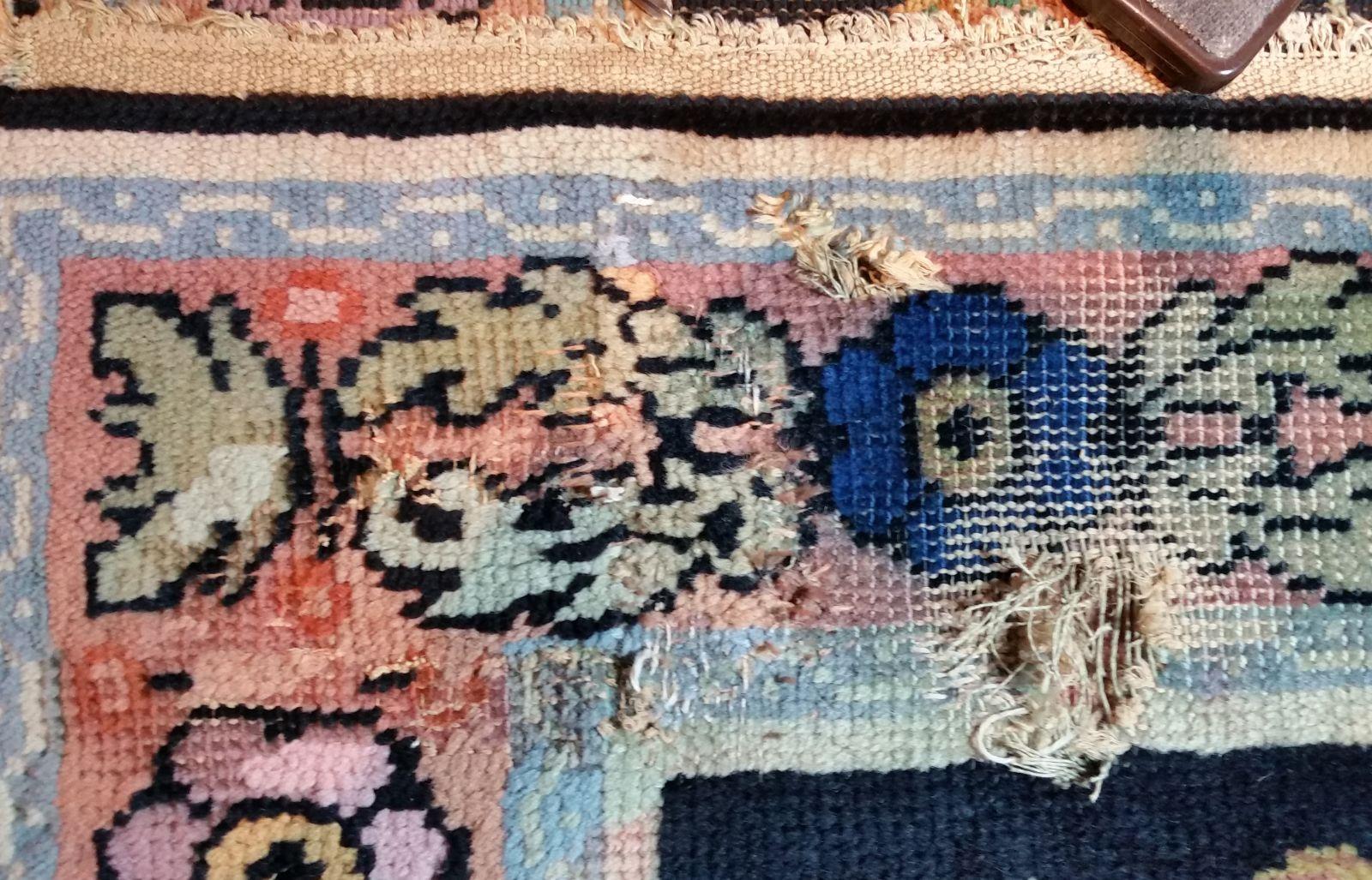 restauration tapis de la savonnerie photographies avant intervention et apr s lorsqu 39 une. Black Bedroom Furniture Sets. Home Design Ideas